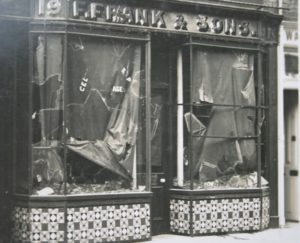 Riot damage to the shop
